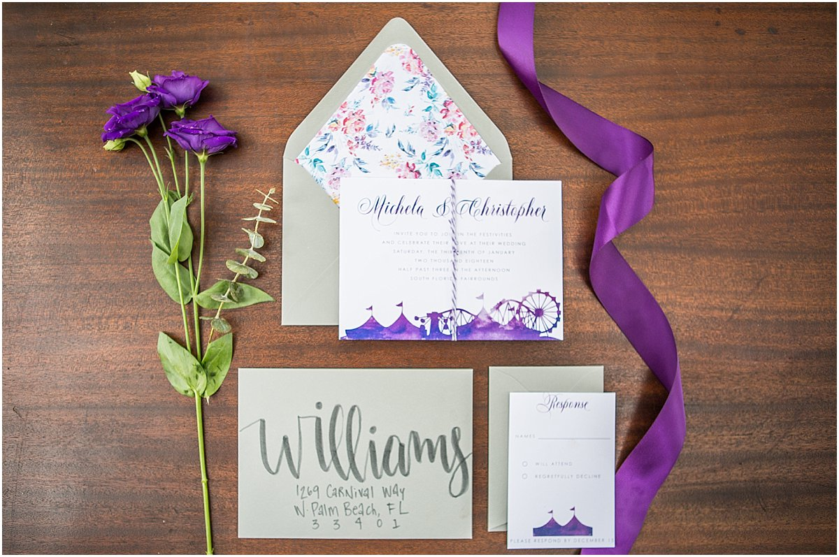 Palm Beach Wedding Invitations Krystal Zaskey Photography