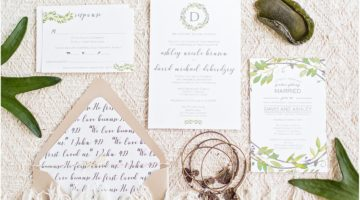 Beautiful Examples of Palm Beach Wedding Invitations and their Costs