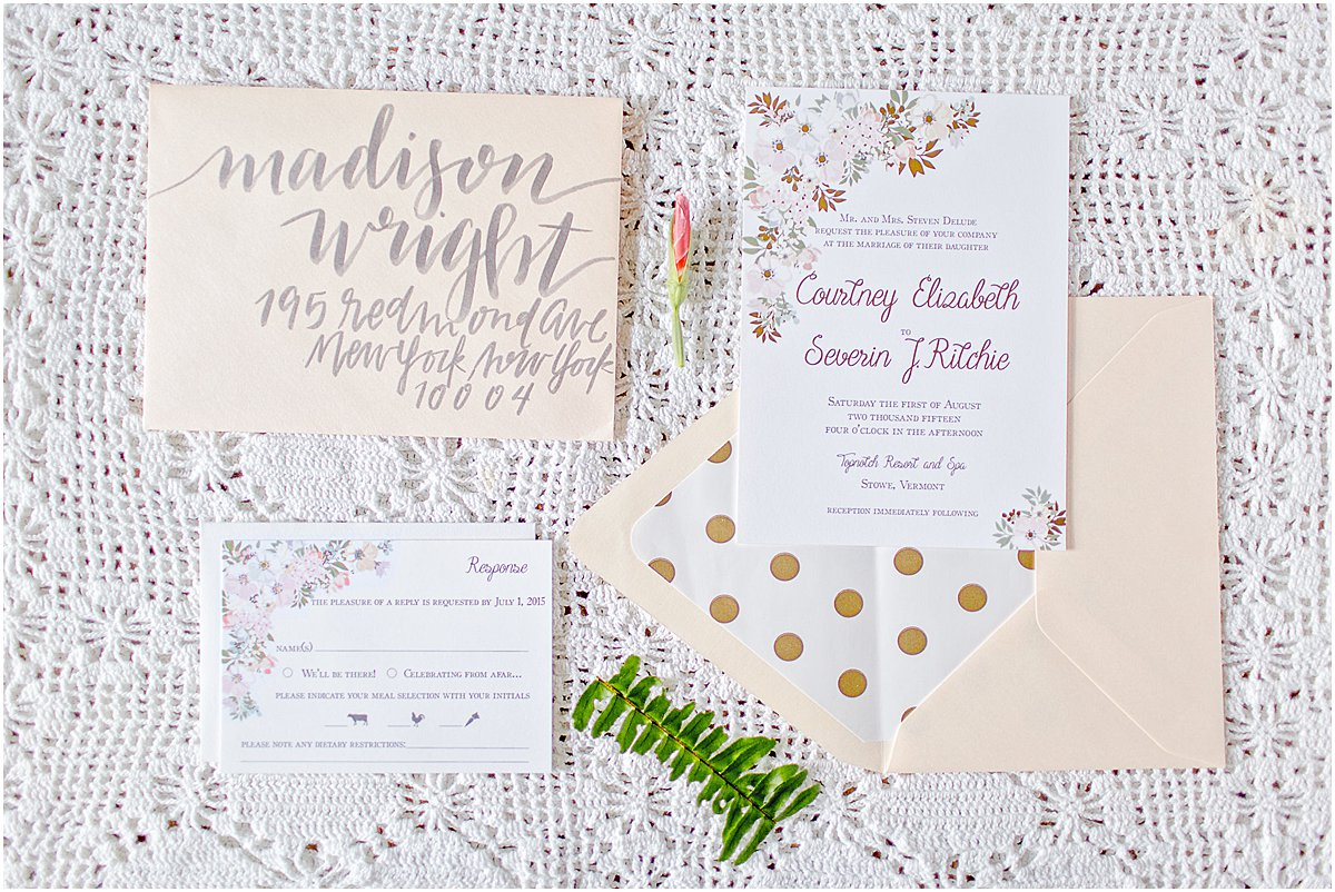 Foil Wedding Invitation by Chirp Paperie_Kenneth Smith Photography