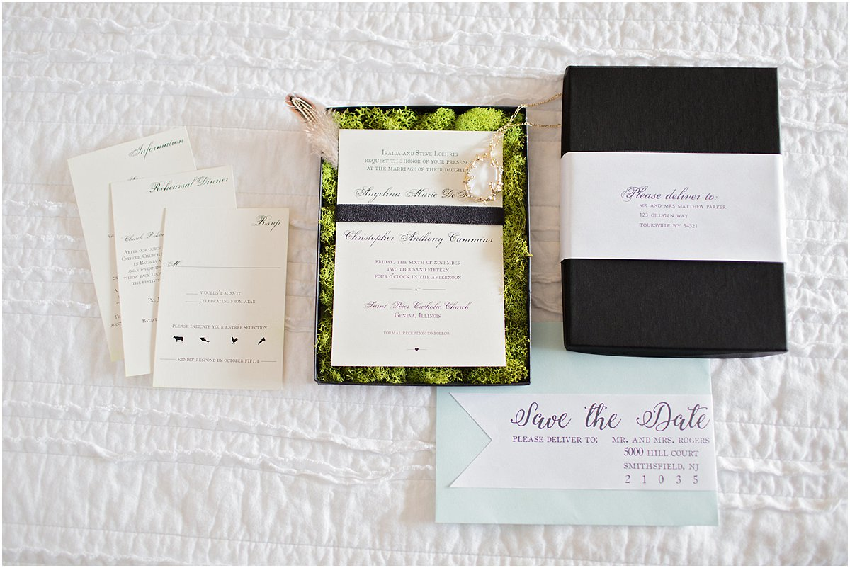 Boxed Wedding Invitation by Chirp Paperie_Kenneth Smith Photography