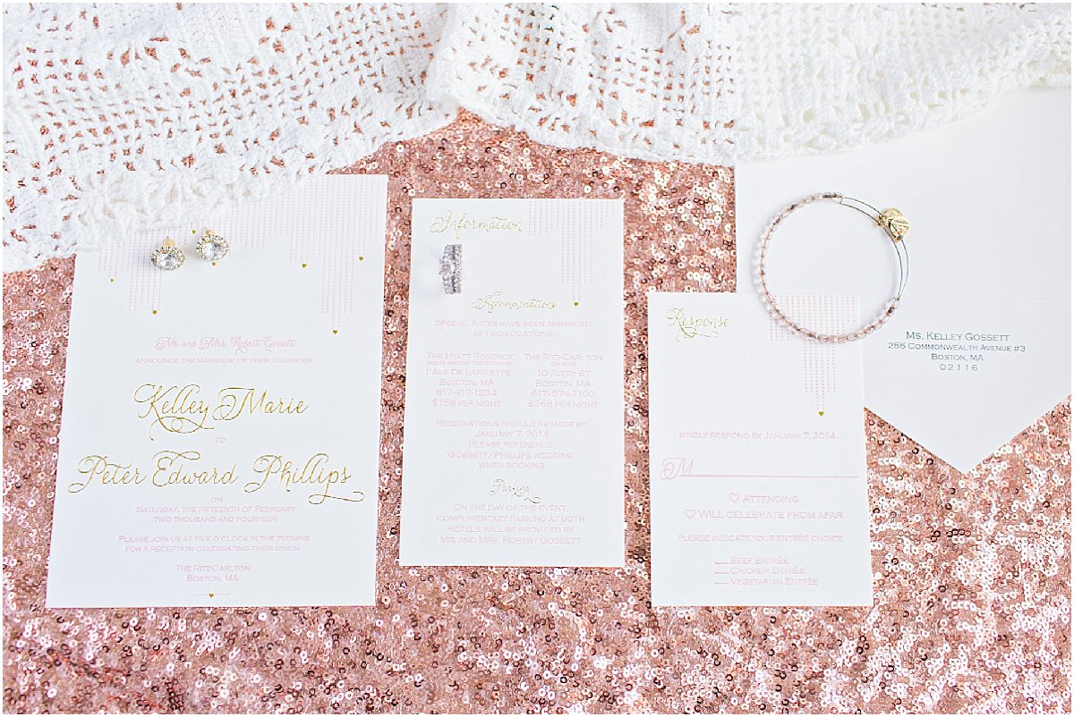 Foil and Letterpress Wedding Invitation by Chirp Paperie_Kenneth Smith Photography